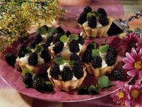 Blackberry Yogurt Tarts recipe