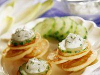 Blini Bites with Cucumber Slices recipe