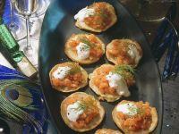 Blini with Salmon recipe