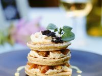 Blinis with Cream Cheese and Smoked Salmon recipe
