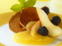Blinis with Fruits and Applesauce recipe