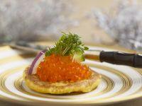 Blinis with Salmon Caviar