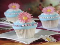 Blue Cakes with Decorations recipe