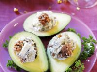 Blue Cheese Avocado Halves recipe