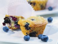 Blueberry and Apple Cakes recipe