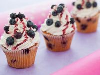 Blueberry and Cherry Muffins with Cherry Sauce recipe