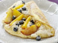 Blueberry and Peach Stuffed Pancakes
