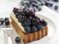 Blueberry Buttercream Tart recipe