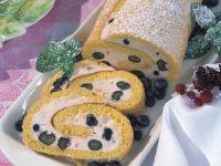 Blueberry Cream Cake Roll recipe