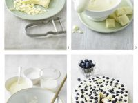 Blueberry Cream Cake with White Chocolate and Blueberries recipe