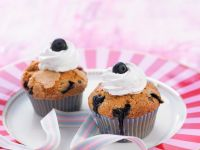 Blueberry Muffins with Whipped Cream recipe