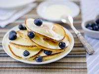 Blueberry Pancakes with Yoghurt Drizzle recipe