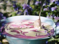 Blueberry Swirl Frozen Yogurt recipe