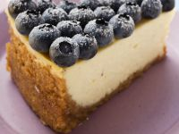 Blueberry-topped Cheesecake Slice recipe