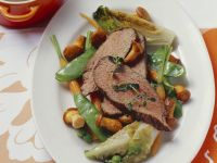 Boiled Veal with Romaine Chanterelles recipe