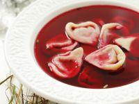 Borsch with Ravioli recipe