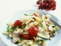 Bow-tie Pasta Salad with Nuts recipe