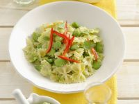 Bow-tie Pasta with Fava Beans recipe