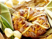 Braided Bread with Almonds and Raisins recipe
