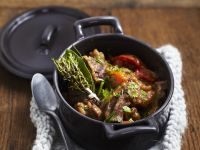Braised Beef in Red Wine with Bacon recipe