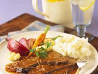 Braised Beef with Mashed Potatoes and Vegetables recipe