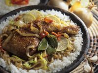 Braised Chicken Thighs with Rice recipe