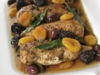 Braised Chicken with Dried Fruit and Olives recipe