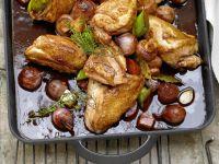 Braised Chicken in Red Wine recipe
