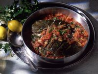 Braised Halibut with Tomatoes recipe