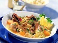 Braised Lamb with Artichokes recipe