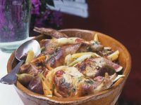 Braised Rabbit with Onions recipe