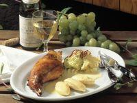 Braised Rabbit with Vegetables and Potato Dumplings recipe