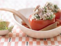 Braised Tomatoes with Herbed Tuna recipe