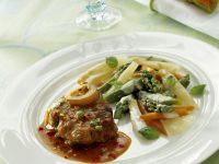 Braised Veal Shank with Mascarpone Vegetables recipe