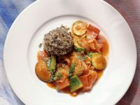 Braised Vegetables with Wild Rice recipe