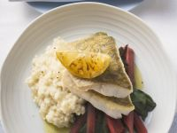 Branzino with Creamy Rice recipe