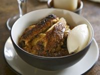 Bread and Butter Pudding with Ice-cream recipe
