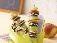 Bread and Fruit Skewers recipe