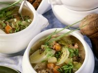 Bread and Vegetable Soup with Bacon recipe