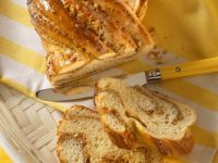 Bread Braid with Marzipan and Nuts recipe