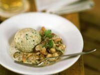 Bread Dumplings with Mixed Mushroom Sauce