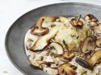 Bread Dumplings with Mushroom Cream Sauce recipe