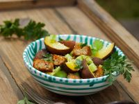 Bread Salad with Baked Potatoes recipe