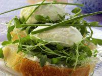 Bread with Horseradish Cream Cheese Spread and Watercress recipe