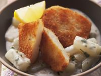 Breaded Celeriac in Parsley Cream Sauce recipe
