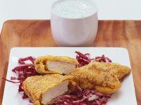 Breaded Chicken Breasts with Radicchio recipe