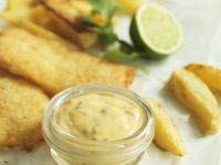 Breaded Fish Fillets with Lime and Cilantro Aioli recipe
