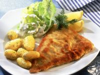 Breaded Fish with Potatoes recipe