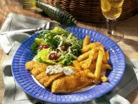 Breaded Salmon with Salad recipe