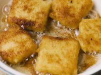 Breaded Sweet Polenta Squares recipe
